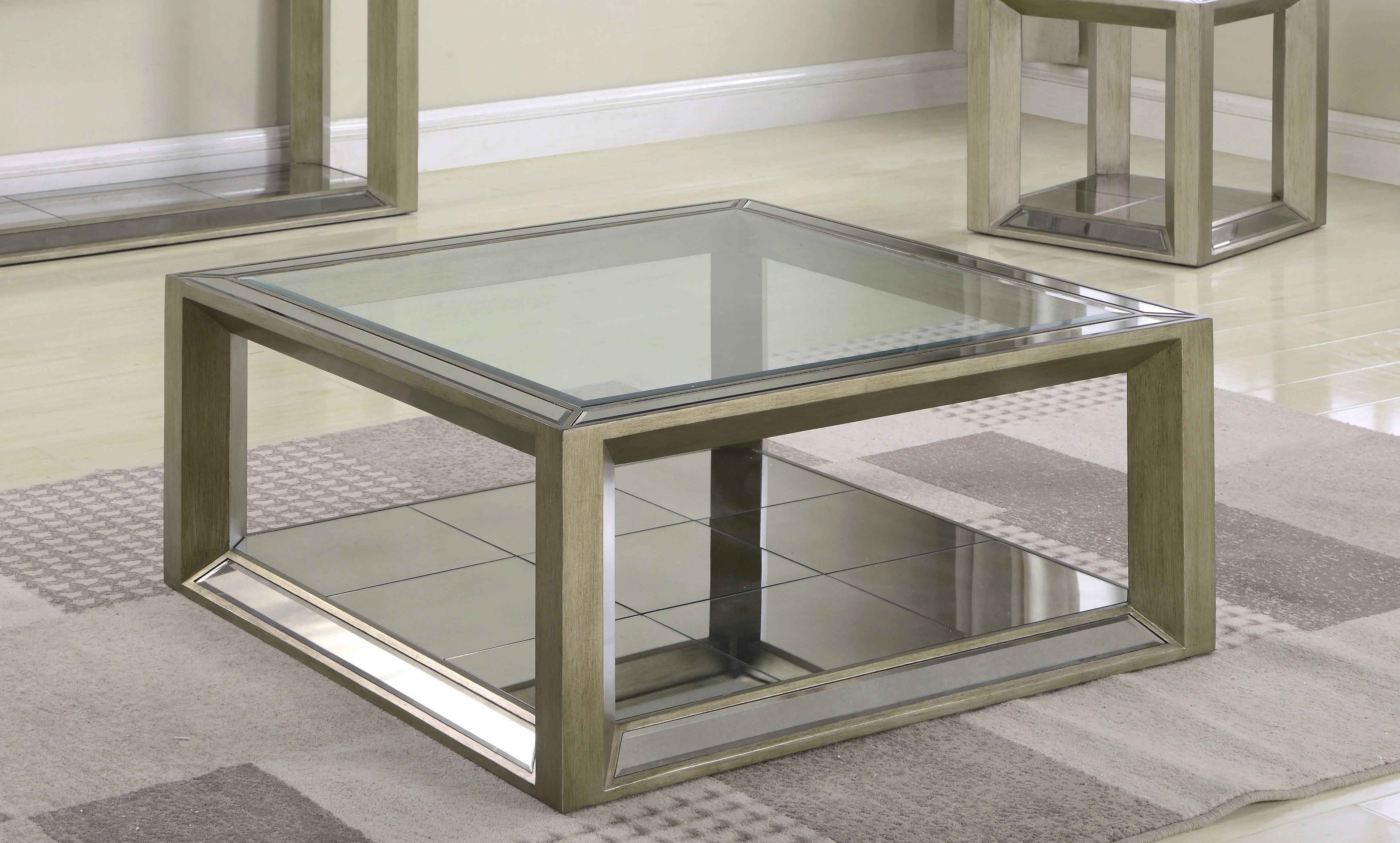 everly quinn laury glass coffee table