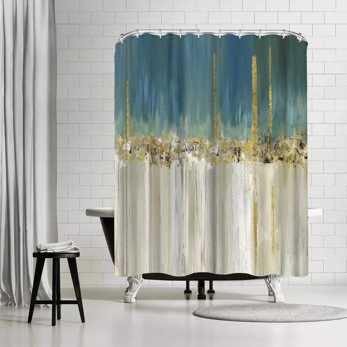pi creative art shine a light ii single shower curtain
