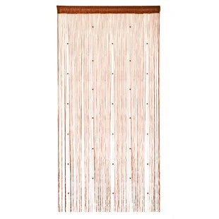 fidel beaded string room divider fringe polka dots single curtain panel