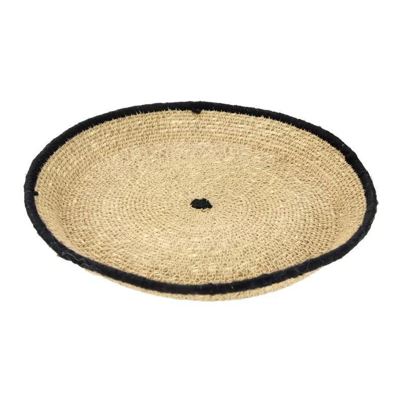 ronaldo handwoven decorative seagrass coffee table tray