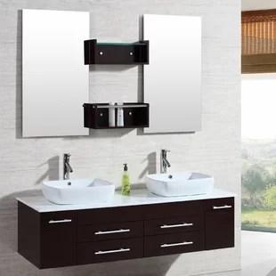bathroom floating vanity   wayfair