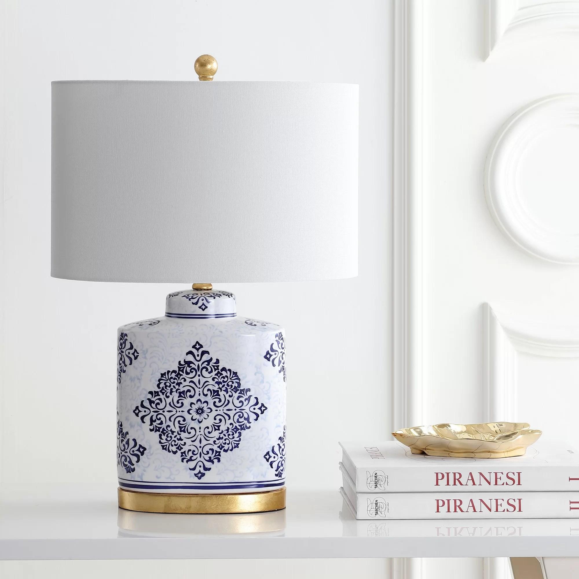 Charlton Home Lietz 24 Blue White Table Lamp Set Reviews