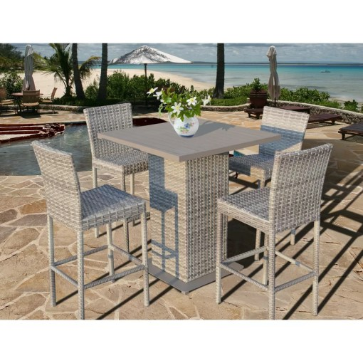Rosecliff Heights Ansonia 5 Piece Bar Height Dining Set   Reviews     Ansonia 5 Piece Bar Height Dining Set
