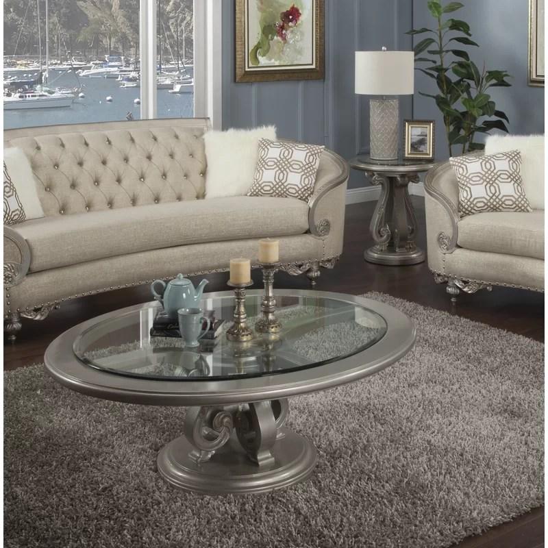 oak hill 2 piece coffee table set