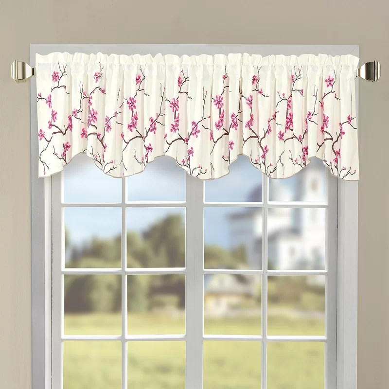 orrstown cherry blossom embroidered 60 curtain valance