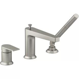 brushed nickel bathtub faucets