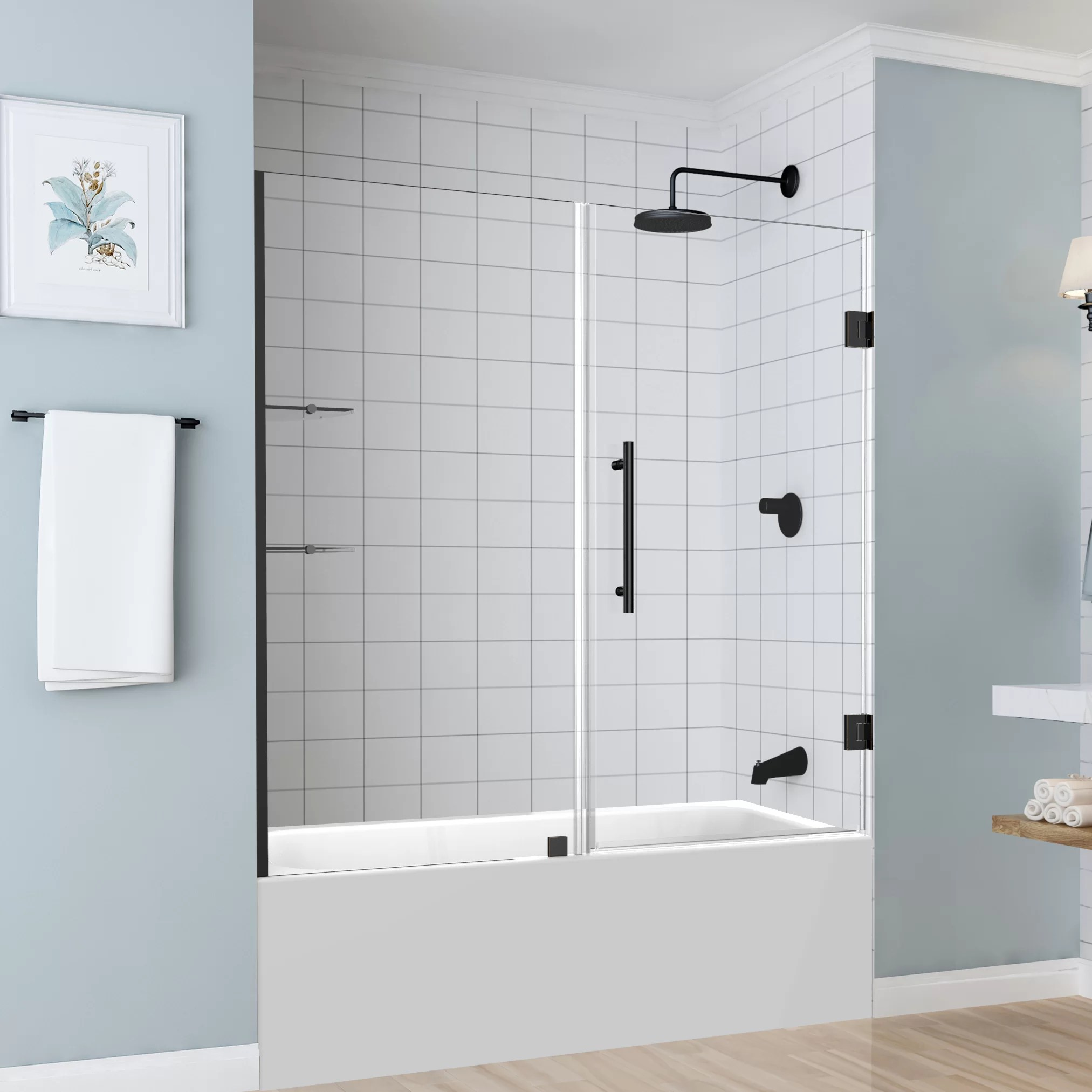 Coraline 60 X 60 Single Sliding Frameless Tub Door