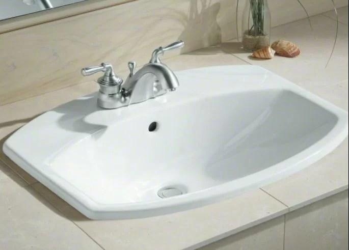 cimarron ceramic rectangular drop in bathroom sink with overflow