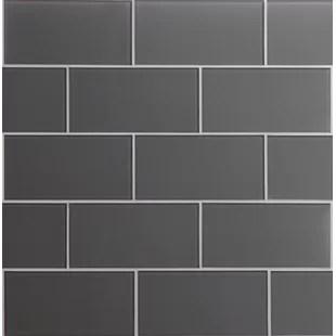 premium 3 x 6 glass mosaic subway tile