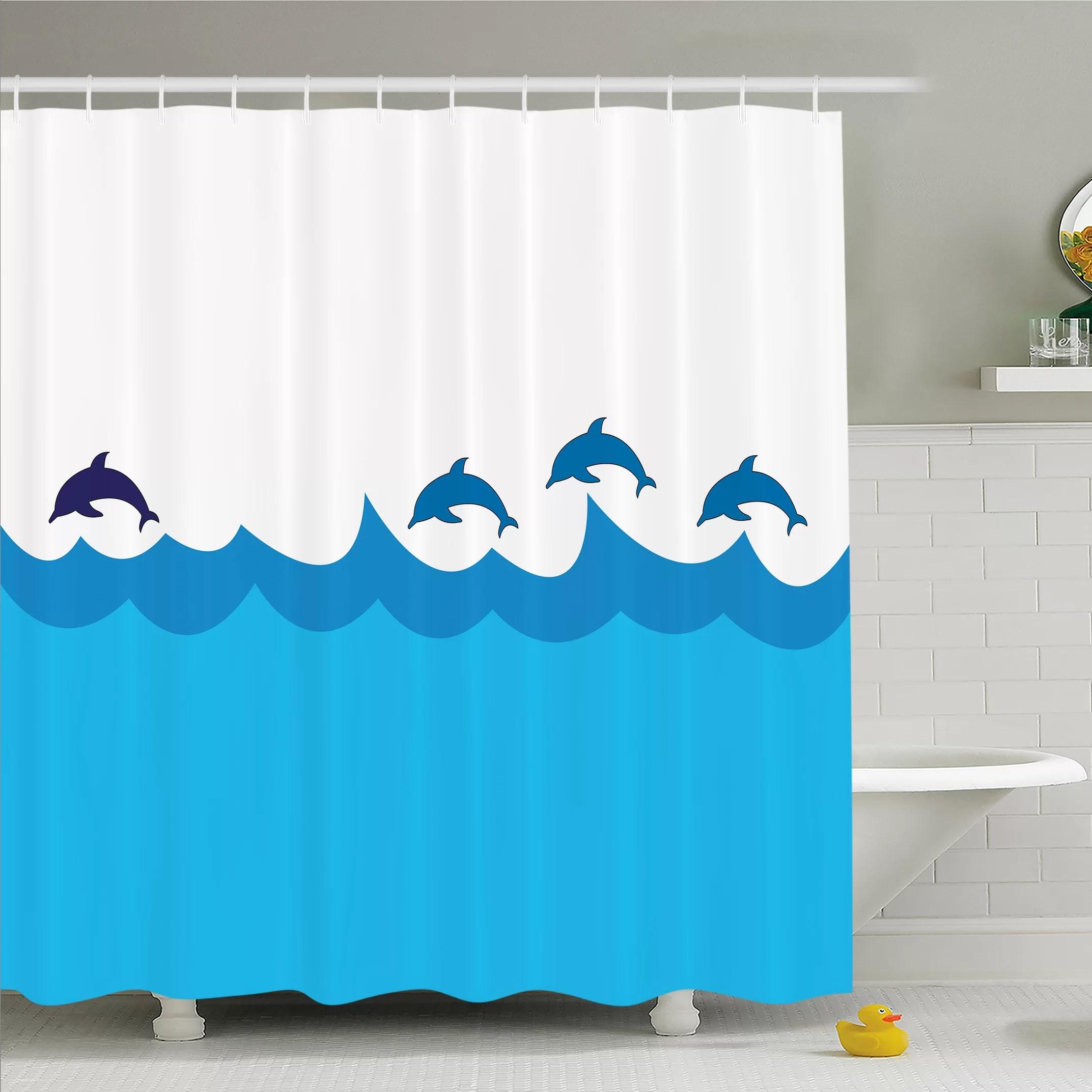blue ocean sea theme polyester fabric