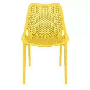 modern cushionless yellow outdoor