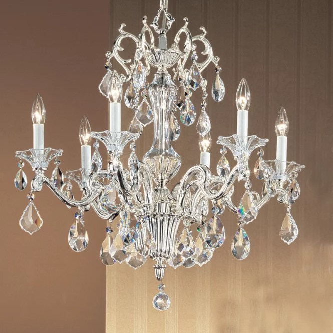 Via Firenze 6 Light Crystal Chandelier