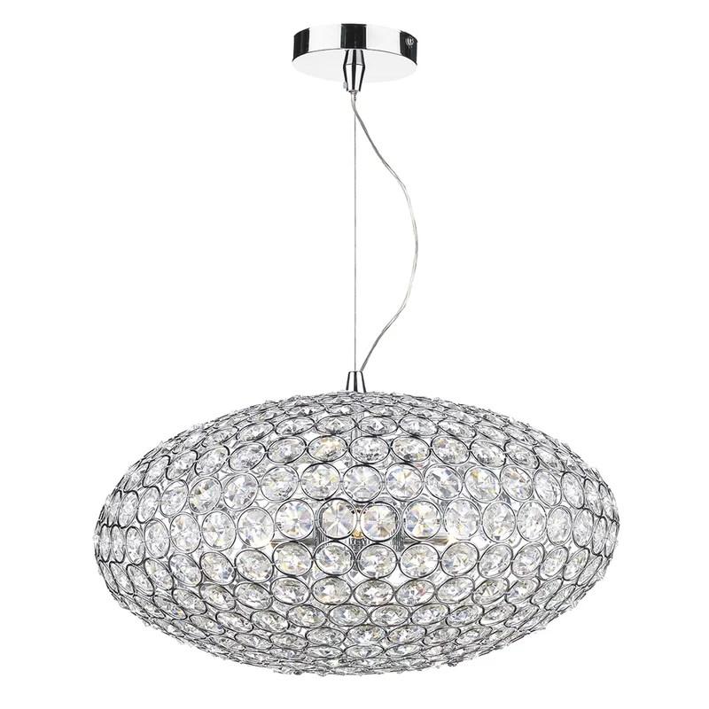 kinley 3 light crystal chandelier