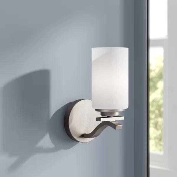 Ebern Designs Mcgann 1-Light Bath Sconce & Reviews   Wayfair on Wayfair Bathroom Sconces id=84423