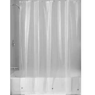 simonetti vinyl solid color shower curtain liner