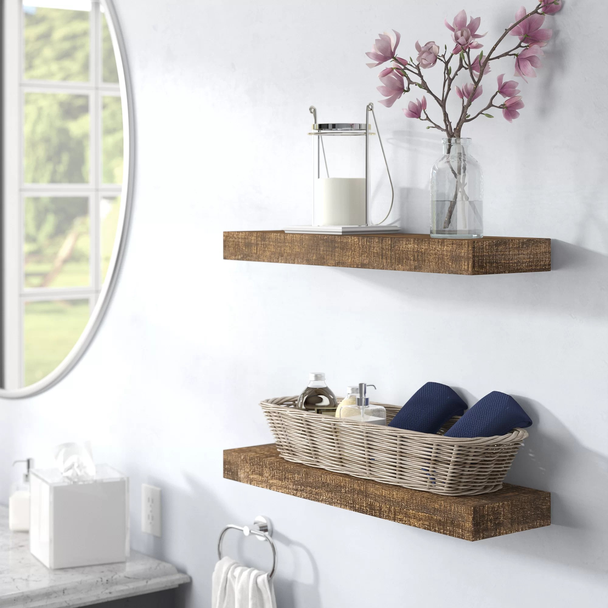 Floating Wall Display Shelves Wayfair