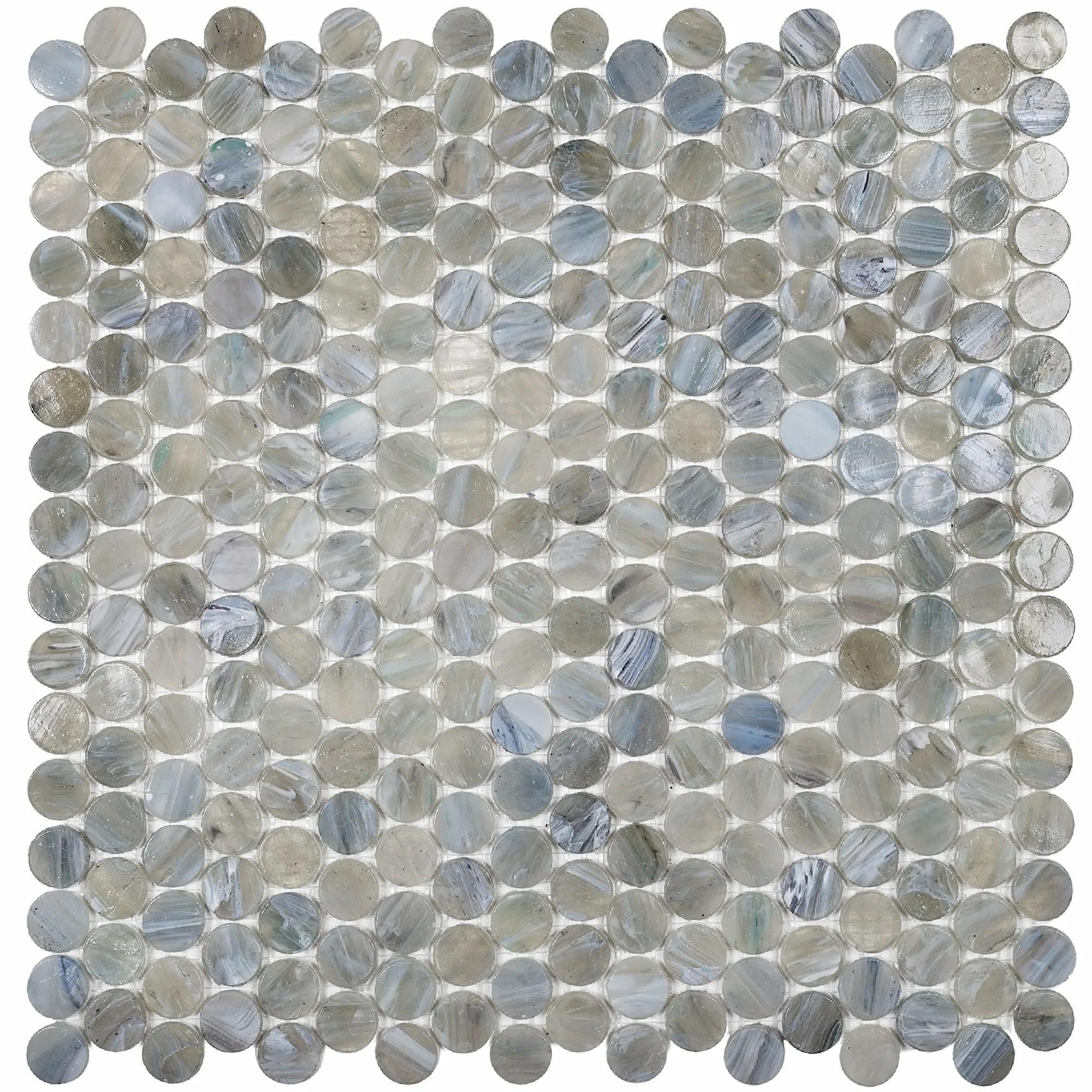 apollo tile backsplash tiles sheet 12 2x12 2 glass tile for kitchen bathroom flooring blue ocean mix penny round mosaic shadow grey 10 pack