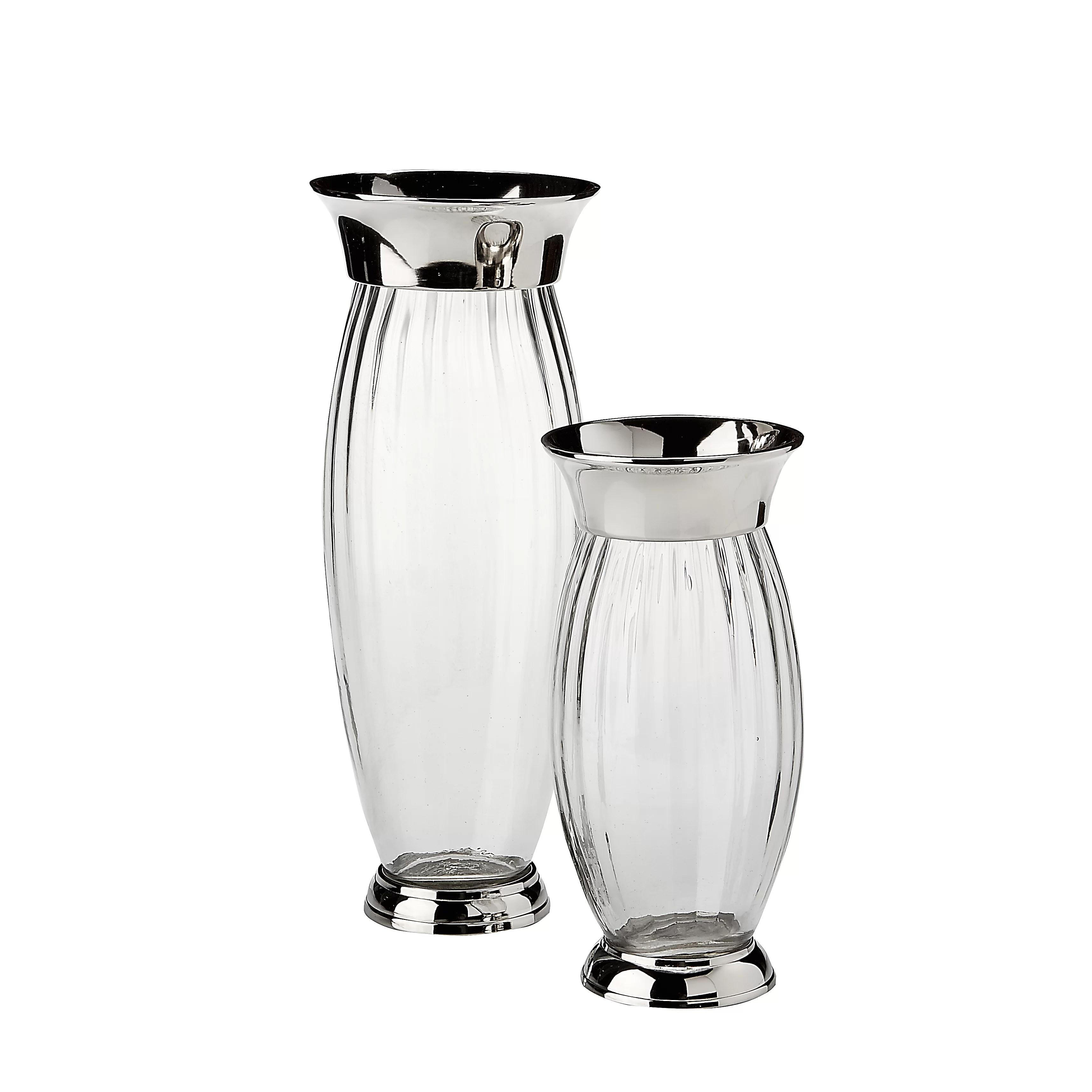 red barrel studio steib decorative 2 piece table vase set wayfair
