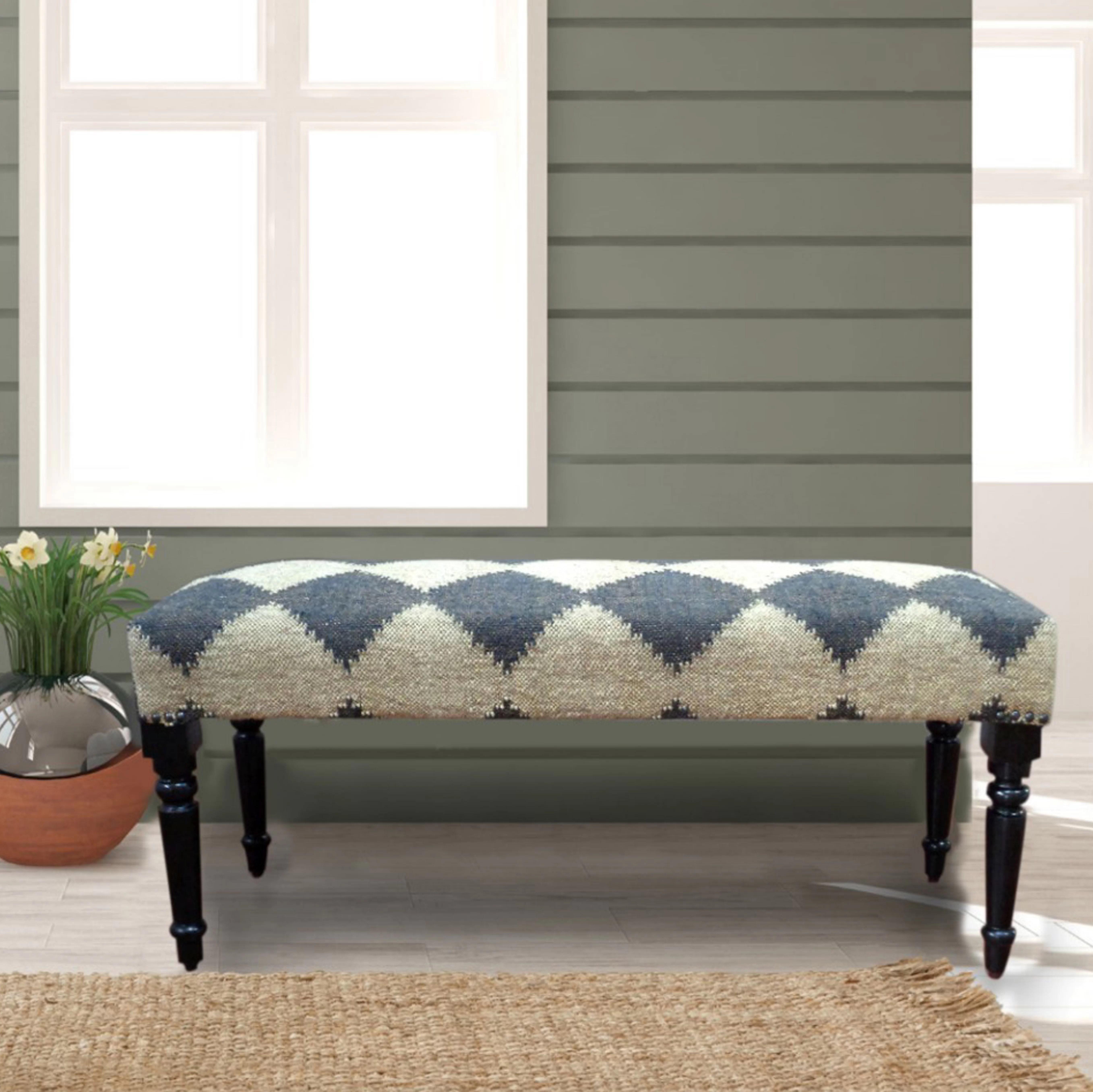 Gracie Oaks Covington Upholstered Bench Wayfair