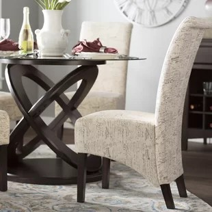 chelvey upholstered dining chair set of 2