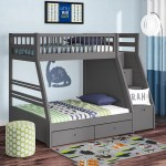 Harriet Bee Mimi Twin Over Full Bunk Bed With Drawers Reviews