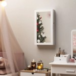 Ebern Designs Karmakar Wall Mounted Jewelry Armoire With Mirror Reviews Wayfair