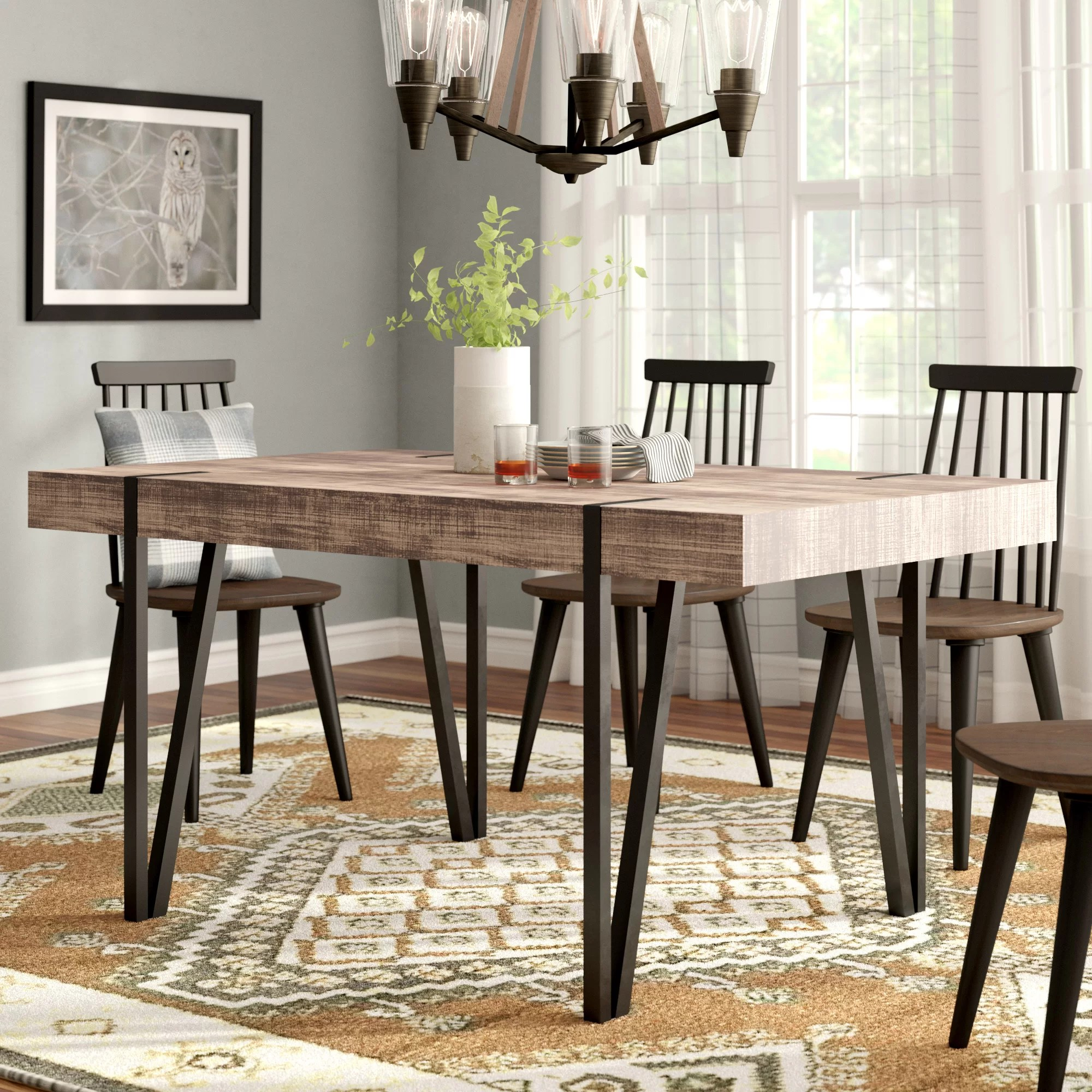 Industrial Kitchen Dining Tables You Ll Love In 2020 Wayfair