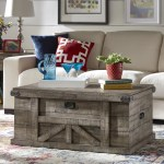 Rosalind Wheeler Catron Solid Wood Block Coffee Table With Storage Wayfair