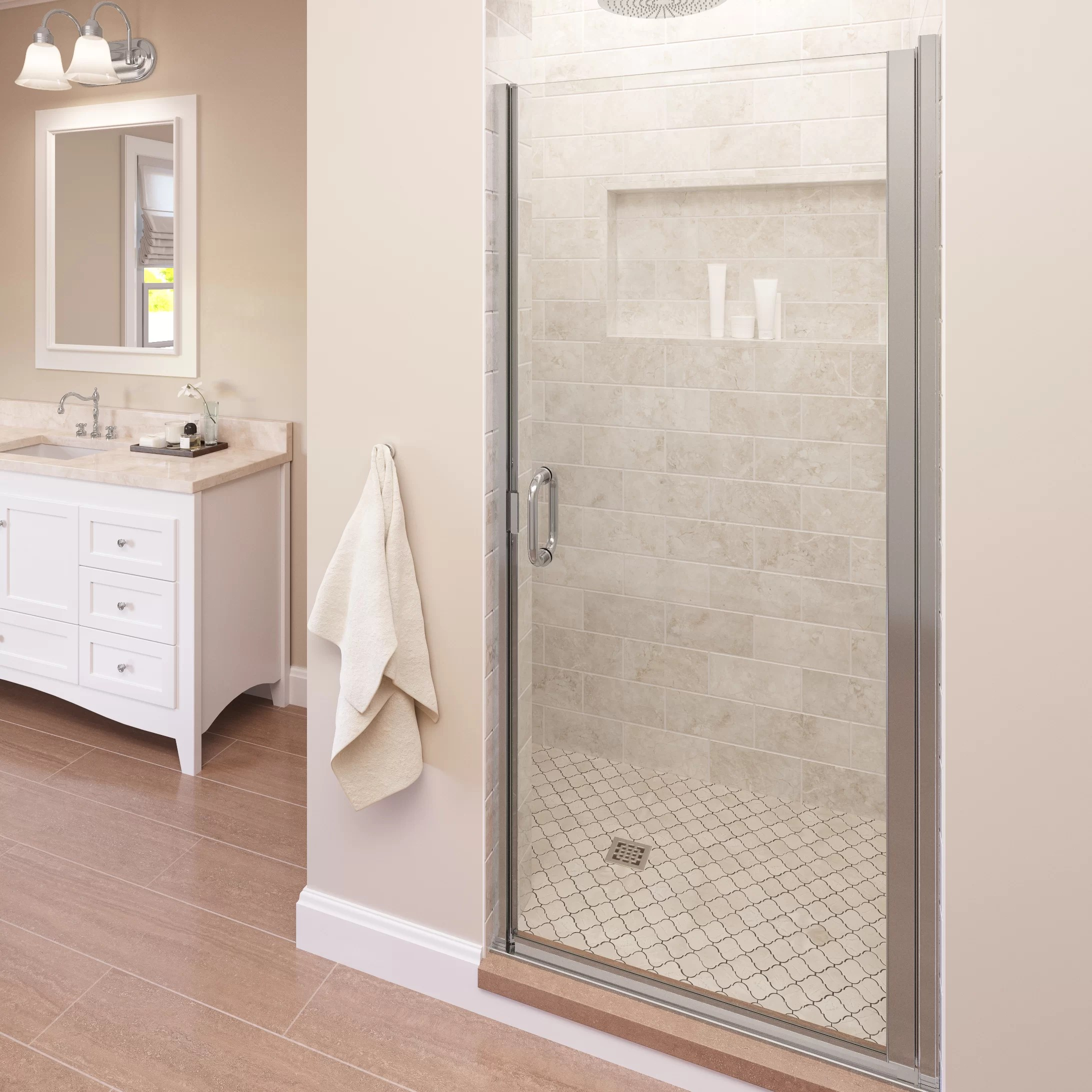 Infinity 28 X 76 Semi Frameless Shower Door