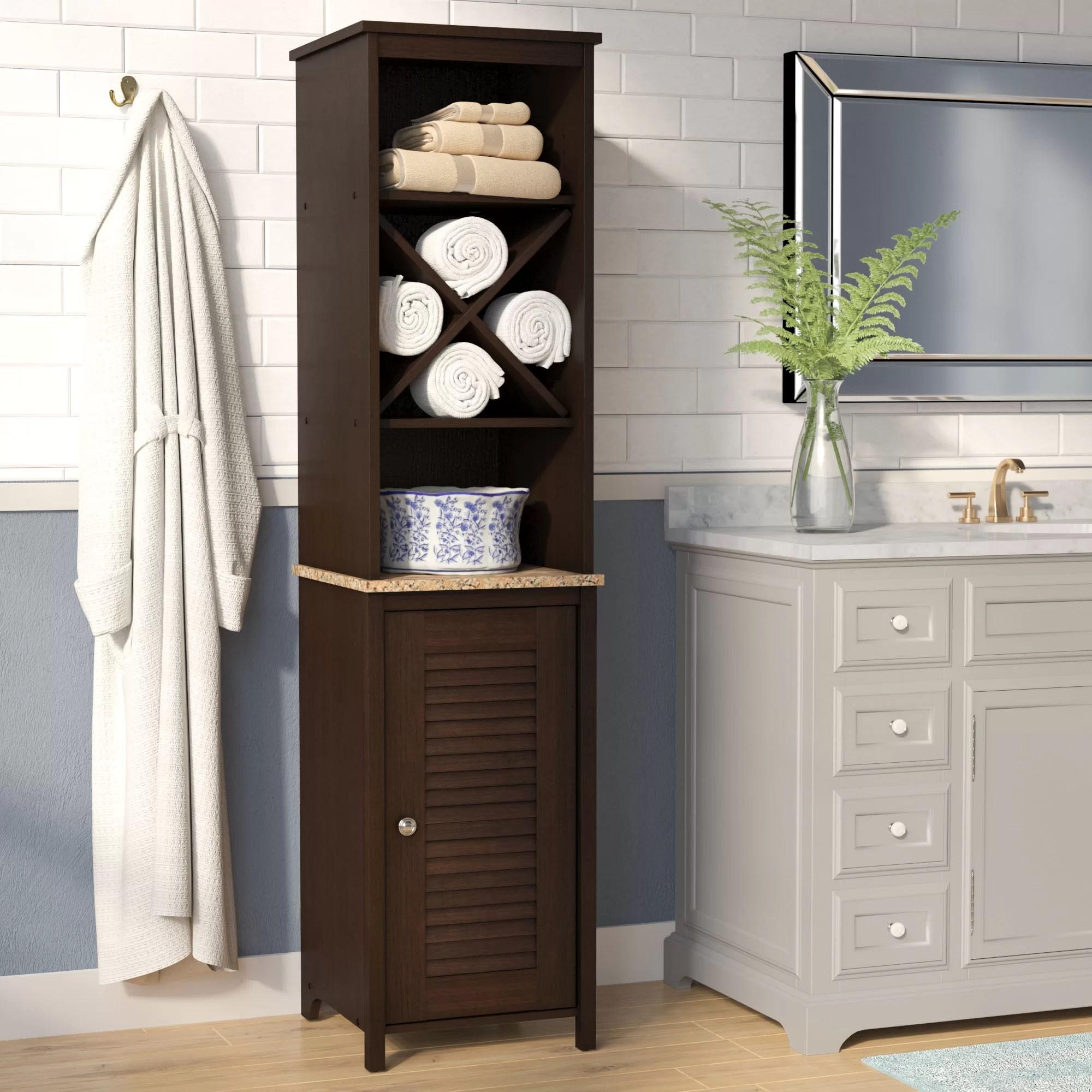 Andover Mills Millersburg 15 W X 61 H Free Standing Linen Cabinet Reviews Wayfair