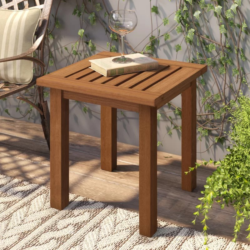 But there weren't many reviews for the sets from wholesale teak. Millwood Pines Fina Teak Wooden Side Table & Reviews   Wayfair