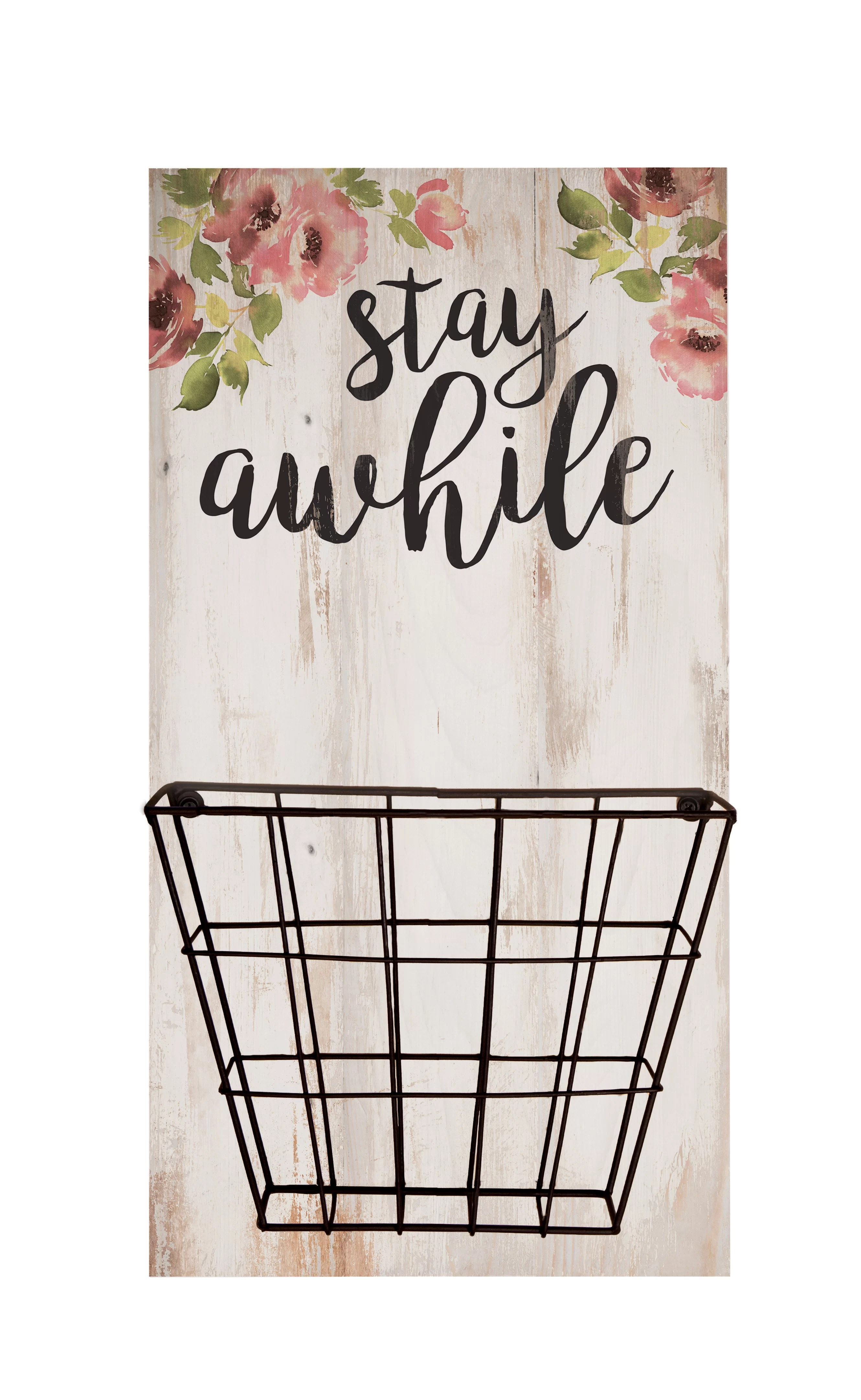 Elle Stay Awhile Basket Wall Decor