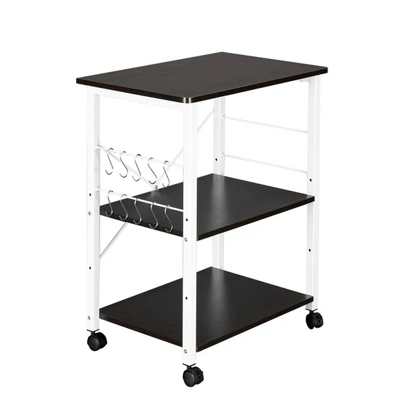 microwave cart and storage