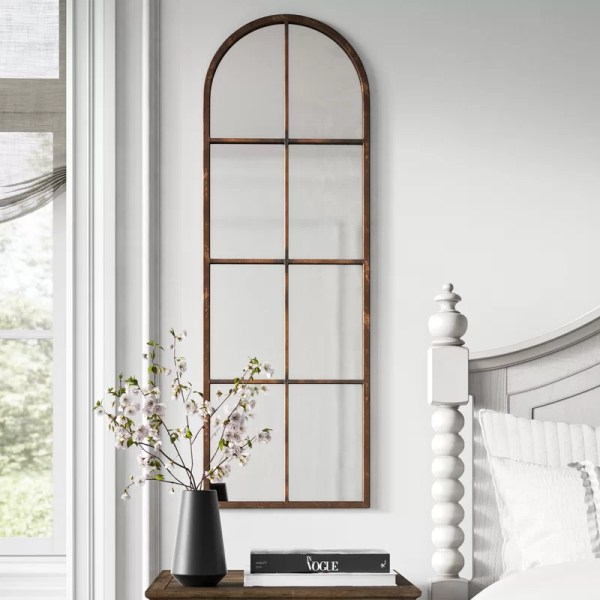Alison Arched Distressed Accent Mirror