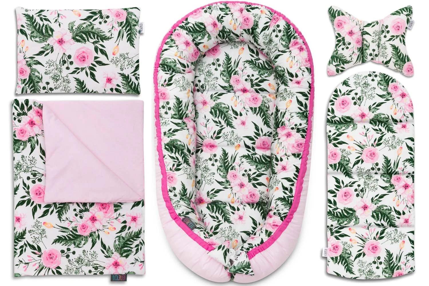 michaels pink blossom baby comforter set