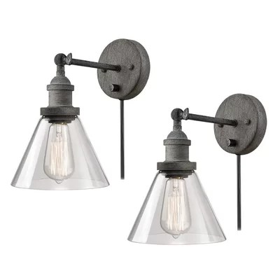 Non Hard Wired Wall Sconce | Wayfair on Non Wired Wall Sconces id=74921