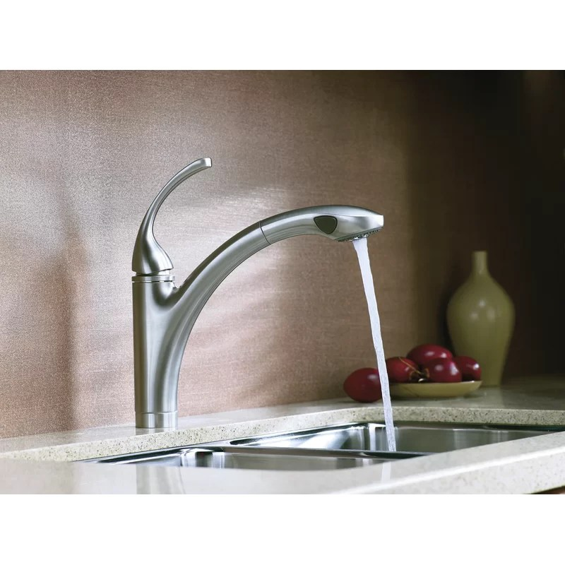 forte pull out single handle kitchen faucet