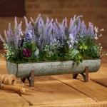 Behrens Footed Trough Galvanized Steel Planter Box Wayfair