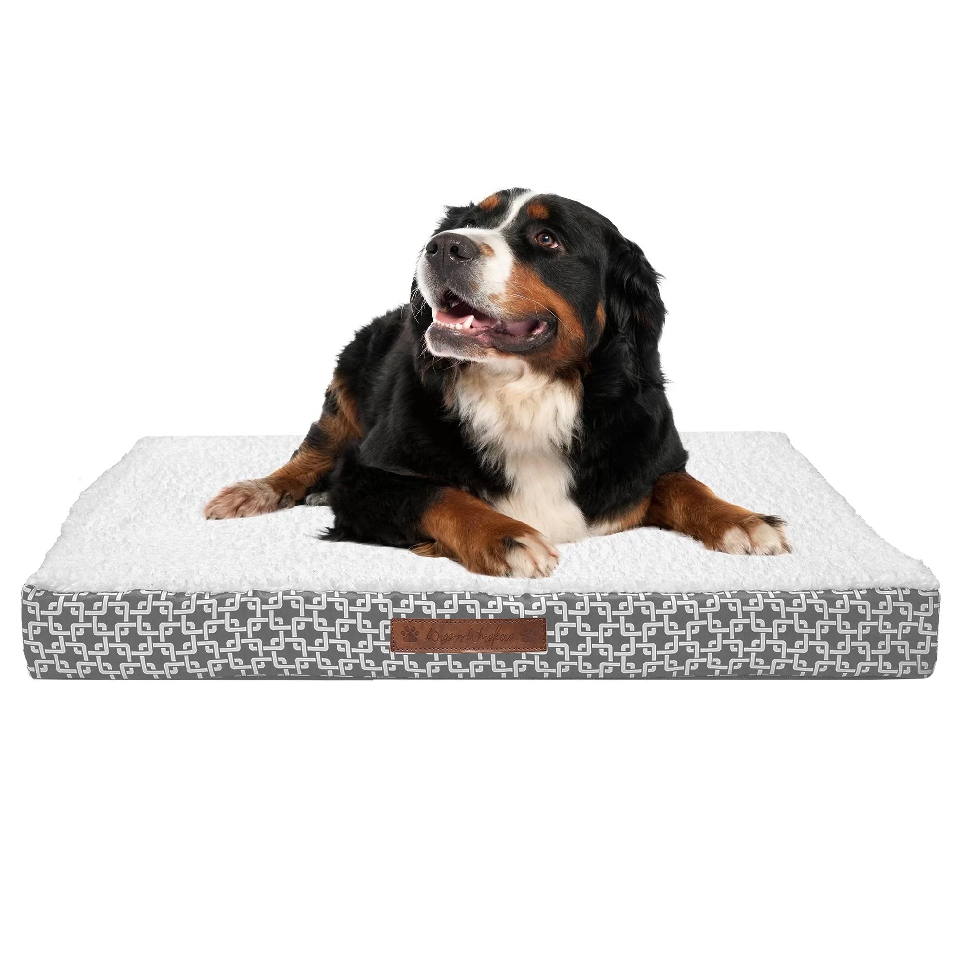 dalto plush top orthopedic dog bed