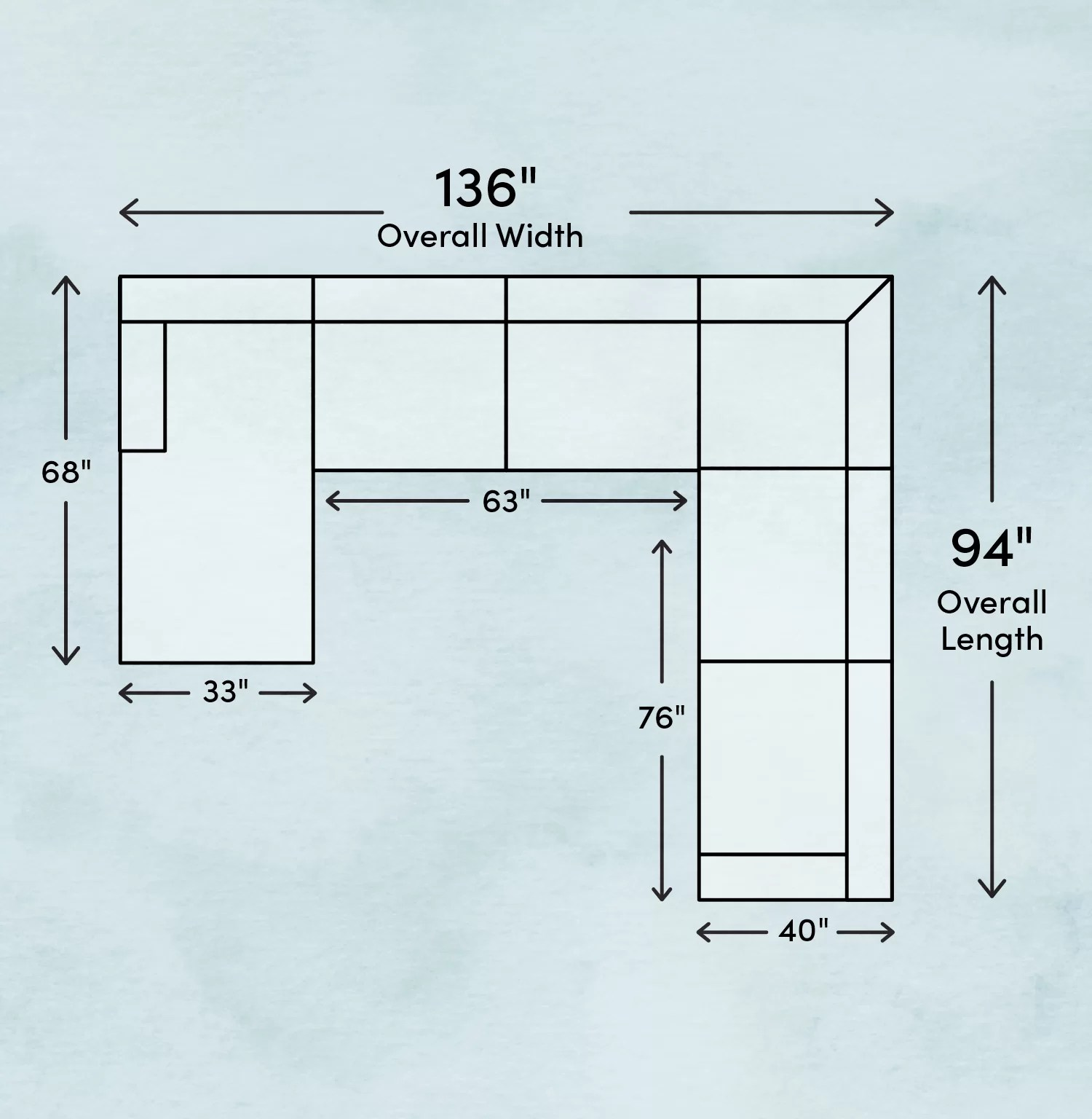 how to measure for a sectional sofa