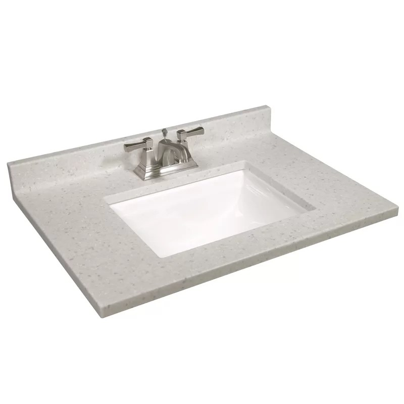 31 in w cultured marble vanity top in frost with solid white basin and 4 in faucet spread