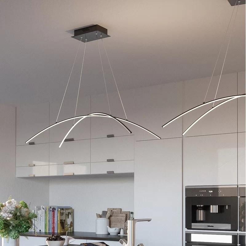 reisinger 2 light unique geometric led pendant