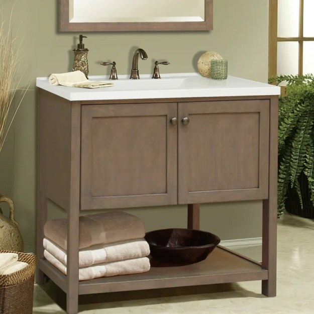 "sunny wood aiden bath 30"" bathroom vanity base 
