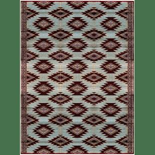 buntingford geometric beige brown indoor outdoor area rug
