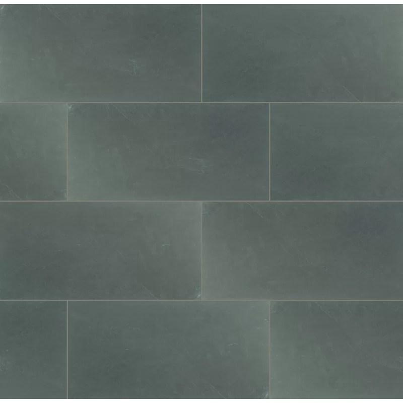 montauk 12 x 24 slate field tile in blue