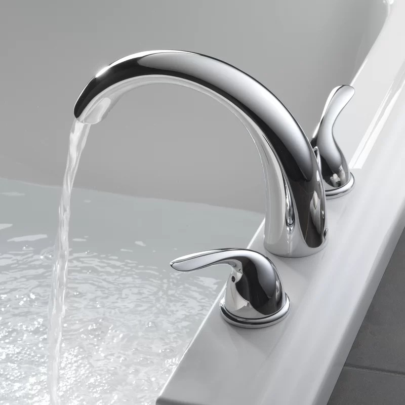 classic double handle deck mounted roman tub faucet