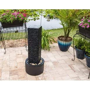resin and concrete outdoor floor fountain
