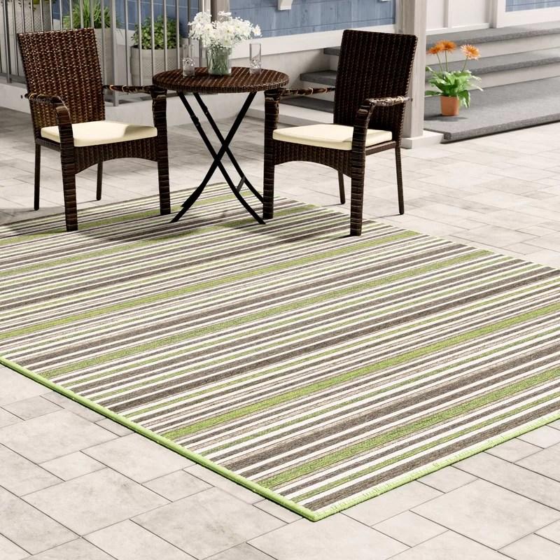 ellenton striped green brown indoor outdoor area rug