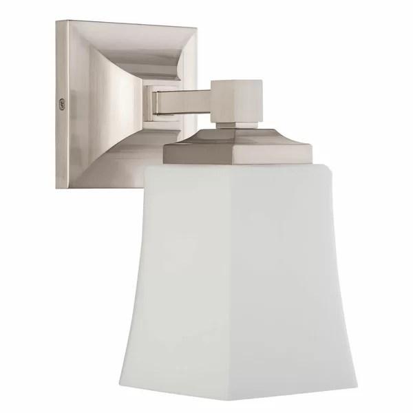 Ebern Designs Bembery 1-Light Dimmable Bath Sconce ... on Wayfair Bathroom Sconces id=29495