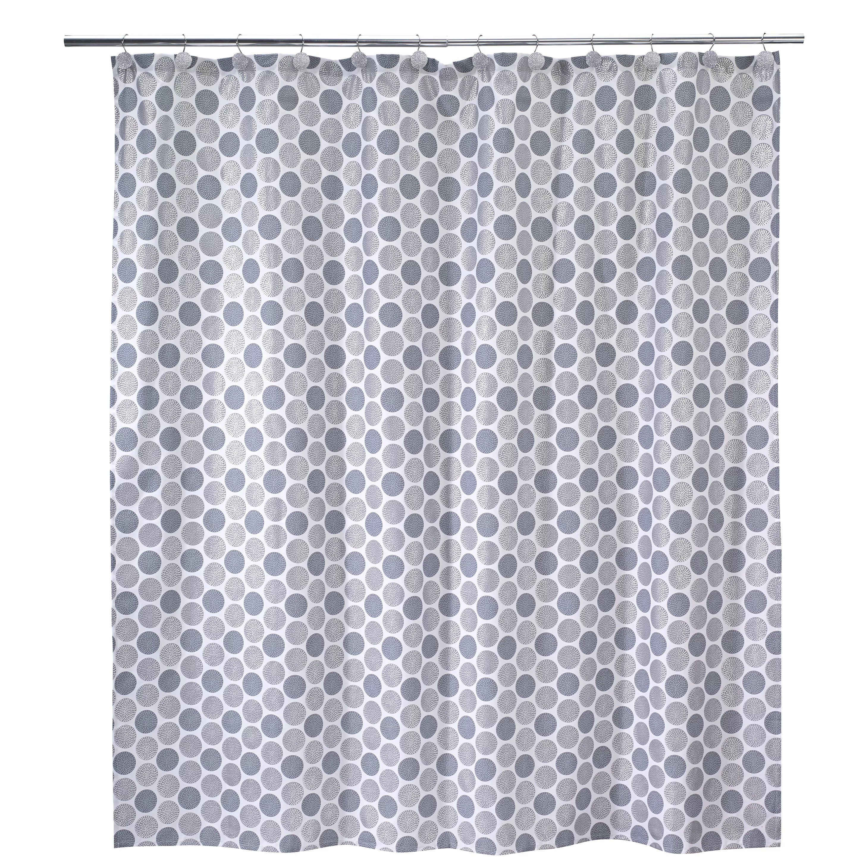 d k n y ombre dots grey fabric shower